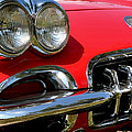 Grille On A 1960 Corvette by LeeAnn White