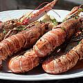 Grilled Prawns Croatia by Ros Drinkwater