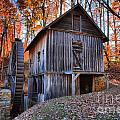 Grist Mill Under Fall Foliage by Adam Jewell