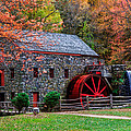 Grist Mill In Autumn by Laura Duhaime