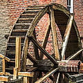 Grist Mill Water Wheel In Hobart Indiana by Paul Velgos
