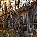 Grist Mill With A Golden Glow by Adam Jewell