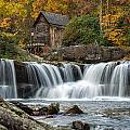 Grist Mill With Vibrant Fall Colors by Lori Coleman