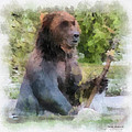 Grizzly Bear Photo Art 01 by Thomas Woolworth