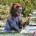 Grizzly Bear Photo Art 02 by Thomas Woolworth