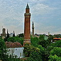 Grooved Minaret Fromthirteenth Century In Antalya-turkey by Ruth Hager