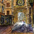 Gros Horlaoge Rouen France by John D Benson