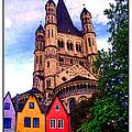 Gross St. Martin In Cologne Germany by Joan  Minchak