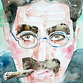 Groucho Marx Watercolor Portrait.1 by Fabrizio Cassetta