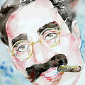 Groucho Marx Watercolor Portrait.2 by Fabrizio Cassetta
