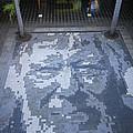 ground mosaic in the cultural center of Granada Nicaragua by Rudi Prott