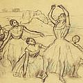 Group Of Dancers by Edgar Degas