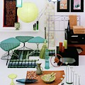 Group Of Furniture And Decorations In 1960 Colors by Tom Yee