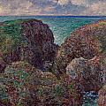 Group Of Rocks At Port Goulphar by Claude Monet