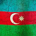 Grunge Azerbaijan Flag by Steve Ball