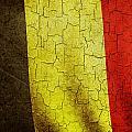 Grunge Belgium Flag by Steve Ball