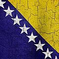 Grunge Bosnia And Hertzegoniva Flag by Steve Ball