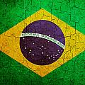 Grunge Brazil Flag by Steve Ball