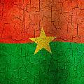 Grunge Burkina Faso Flag by Steve Ball