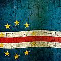 Grunge Cape Verde Flag by Steve Ball