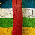 Grunge Central African Republic Flag by Steve Ball