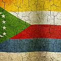 Grunge Comoros Flag by Steve Ball