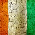Grunge Cote D'voire Flag by Steve Ball