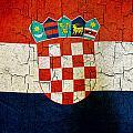 Grunge Croatia Flag by Steve Ball