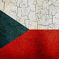 Grunge Czech Republic Flag by Steve Ball