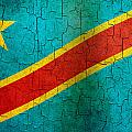 Grunge Democratic Republic Of The Congo Flag by Steve Ball