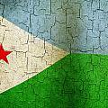 Grunge Djibouti Flag by Steve Ball