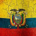 Grunge Ecuador Flag by Steve Ball