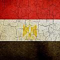 Grunge Egypt Flag by Steve Ball