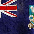 Grunge Falkland Islands Flag by Steve Ball