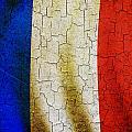 Grunge France Flag by Steve Ball
