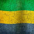 Grunge Gabon Flag by Steve Ball