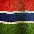 Grunge Gambia Flag by Steve Ball