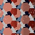 Grunge Geometric Background. Vector by Veronika M