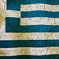 Grunge Greece Flag by Steve Ball