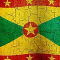 Grunge Grenada Flag by Steve Ball