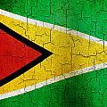 Grunge Guyana Flag by Steve Ball