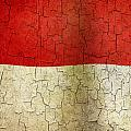 Grunge Indonesia Flag by Steve Ball