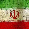 Grunge Iran Flag by Steve Ball