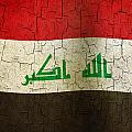 Grunge Iraq Flag by Steve Ball