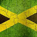 Grunge Jamaica Flag by Steve Ball