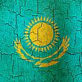 Grunge Kazakhstan Flag by Steve Ball
