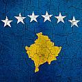 Grunge Kosovo Flag by Steve Ball