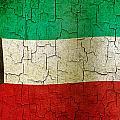 Grunge Kuwait Flag by Steve Ball