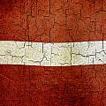 Grunge Latvia Flag by Steve Ball