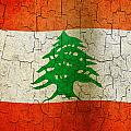 Grunge Lebanon Flag by Steve Ball